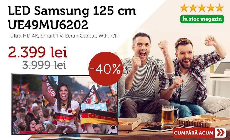 Reducere-de-pret-Televizor-LED-Samsung-125-cm-UE49MU6202-4K-Smart-TV-Ecran-Curbat-Campionatul-Mondial-de-Fotbal-Rusia-2018