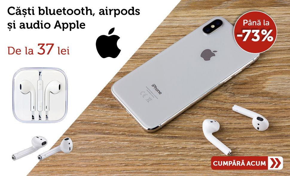 Oferta-casti-audio-apple-airpods-bluetooth