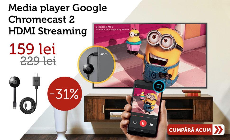 Media-player-Google-Chromecast-2-HDMI-Streaming-Ieftin-Oferta