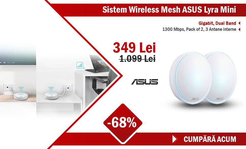 Oferta-sistem-wireless-mesh-asus-lyra-mini-gigabit-dual-band-1300-mbps-pack-of-2-3-antene-interne-alb
