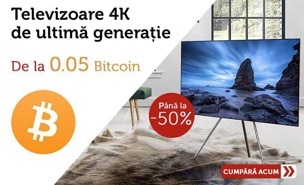 Reducere-de-pret-Televizoare-4K-Plata-in-Bitcoin