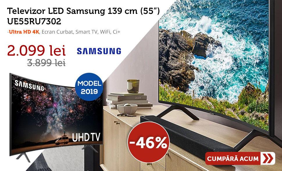 Oferta-Televizor-LED-Samsung-139-cm-UE55RU7302-Ultra-HD-4K-Ecran-Curbat-Smart-TV-WiFi-Cel-mai-mic-pret