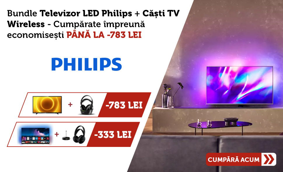 Oferta-pret-Bundle-Televizoare-Philips-Casti-TV-Philips